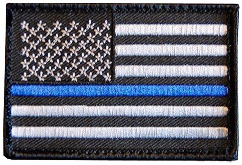 thin blue line union flag patch cops - 809×550