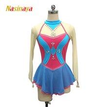 Nasinaya Figure Skating Dress Customized Competition Ice Skating Skirt for Girl Women Kids Patinaje Gymnastics Performance 369