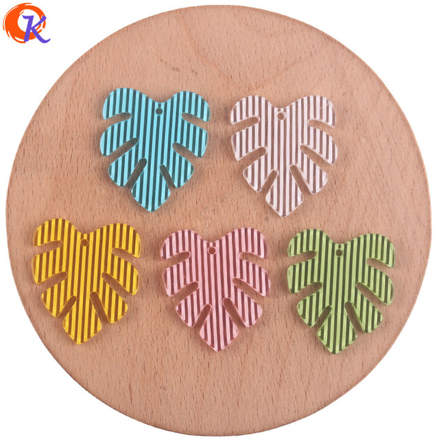 Cordial Design 25*28mm 100Pcs Jewelry Accessories/Earring Connectors/Leaf Shape/DIY Jewelry Making/Hand Made/Earring Findings