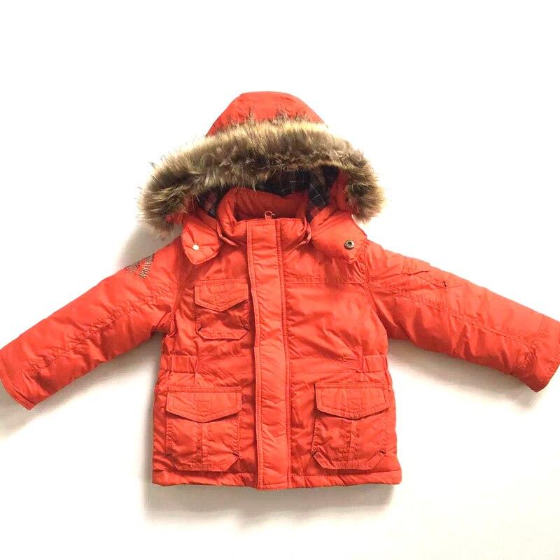 2016 Nieuwe Hoogwaardige Jongen Gewatteerde Jas Kinderen Jassen Afneembare Hoodie Outdoor Winterjas Met Bont