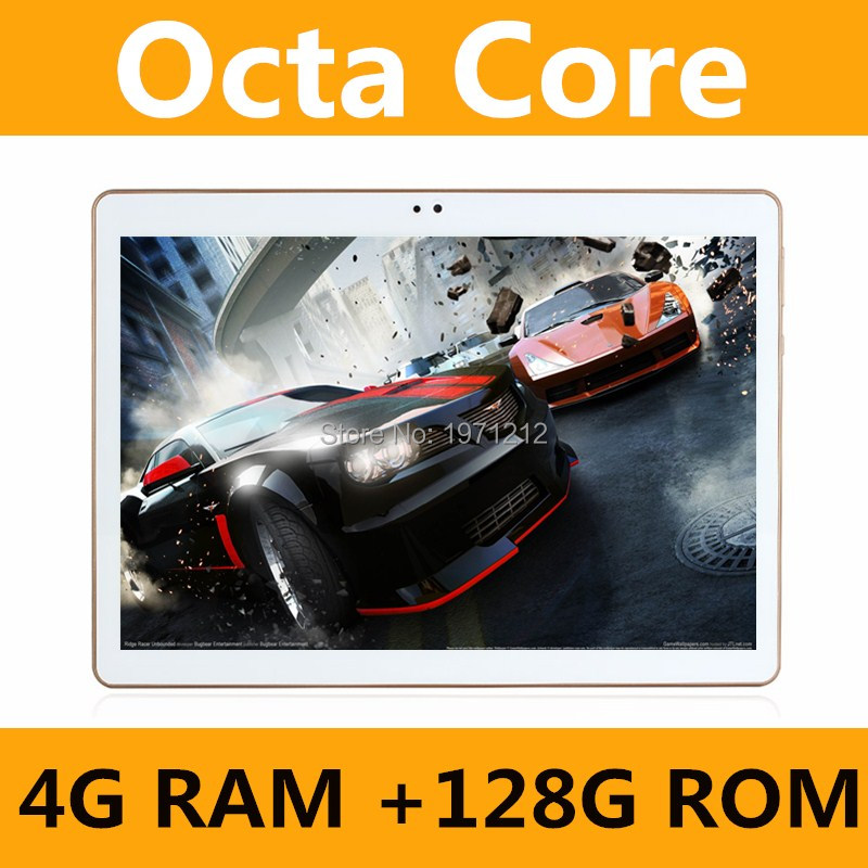 Octa Core 10.1 pouce tablet MTK8752 Android Tablet 4 gb RAM 128 gb ROM Dual SIM Bluetooth GPS Android 7.0 tablet PC 10