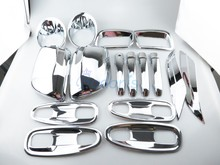 For 2014-2017 Toyota Land Cruiser Prado LC 150 FJ150 Car Styling Mirror Handle Fog Lamp Light Cover Chrome Prado Accessories цена в Москве и Питере