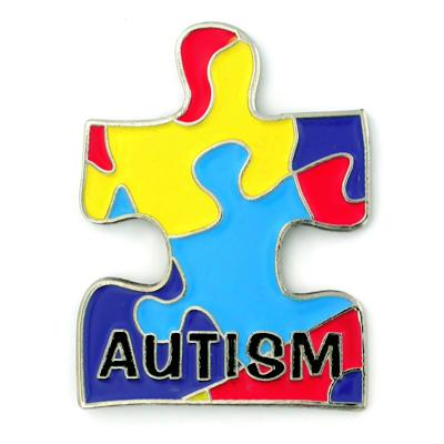 Autism Puzzle Pin badge pin gifts-in Pins & Badges from Home & Garden    1