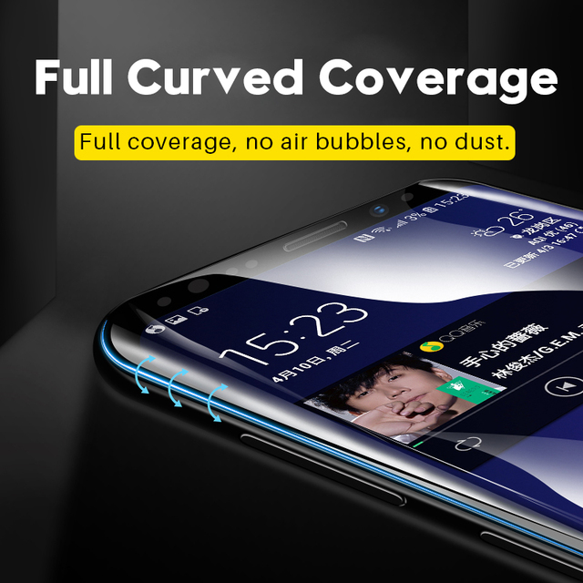 Tempered Glass Film For Samsung Galaxy Note 8 9 10 20 S9 S8 S10 S20 Plus Ultra S7 Edge 9D Full Curved Screen Protector S10E S21 2