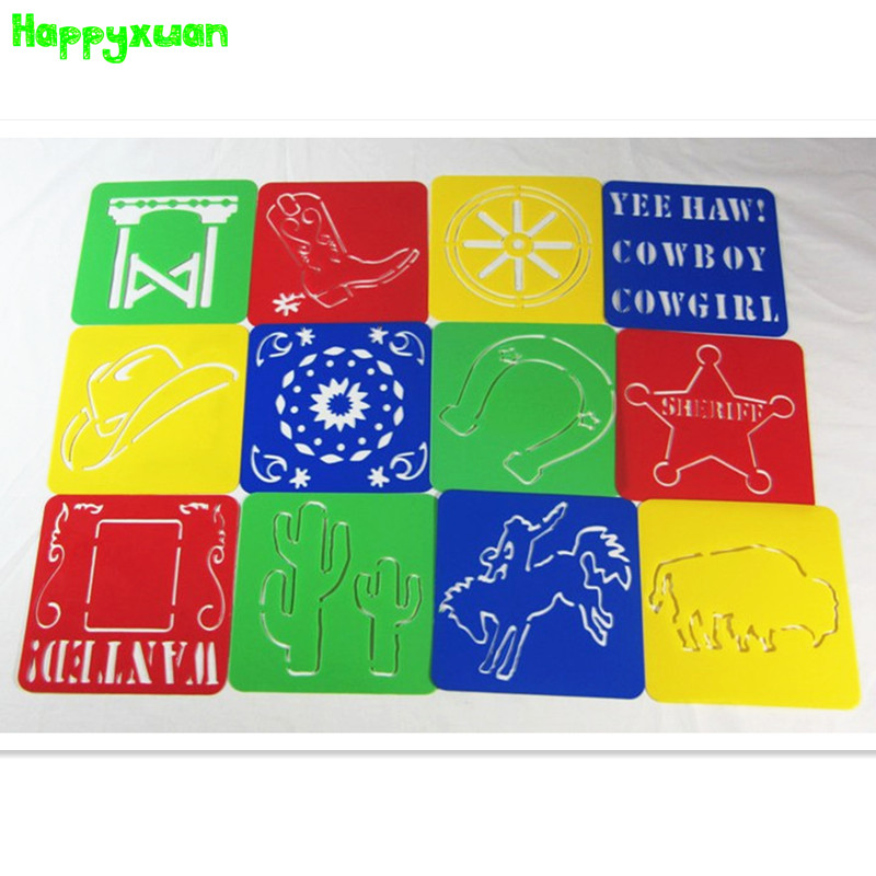 happyxuan clearance sale 128128006cm kids plastic picture drawing stencil childrens drawing