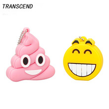 Transcend usb 2.0 Smile Emoticons USB Flash Drive Laptop 4GB 8GB 16GB 32GB 64GB Personal Memory Stick PendriveU Free Shipping
