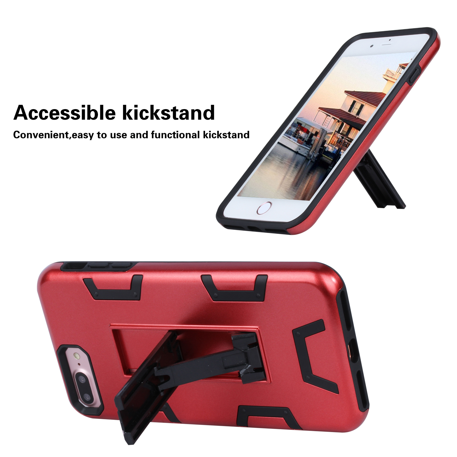 New Armor Case for Apple IPhone7 iPhone8 Stand Holder Case Full Protective Mobile Phone Cover for iPhone7Plus iPhone8PLUS Coque