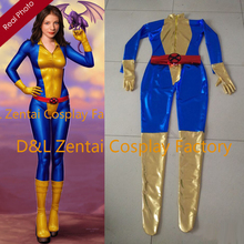 Free Shipping DHL 2016 Adult X- Men Kitty Pryde Shadowcat Superhero Costume Shiny Metallic Halloween Cosplay Catsuit XM106