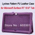 """PU Кожаный Магнитный Чехол/Обложка для Microsoft Surface RT 10.6 """"Tab, Surface rt Стенд случай, свободный корабль"""