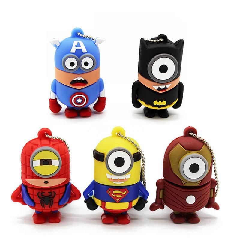 Best Gift Superhero Avenger/Superman/Batman/Spider Man Pendrive Usb 2.0 8G 16G 32G  Usb.0 Usb Flash Drivdriveck Pendrive