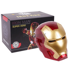 Iron Man Adult Motorhelm Cosplay Masker Touch Sensing Masker met LED Licht Collectible Model Speelgoed 1:1 Hoge Kwaliteit(China)