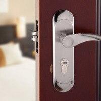 Fechamento do punho bloqueio de alumínio casa de banho Quarto sala de estar moderna Engenharia de hardware maçaneta da porta