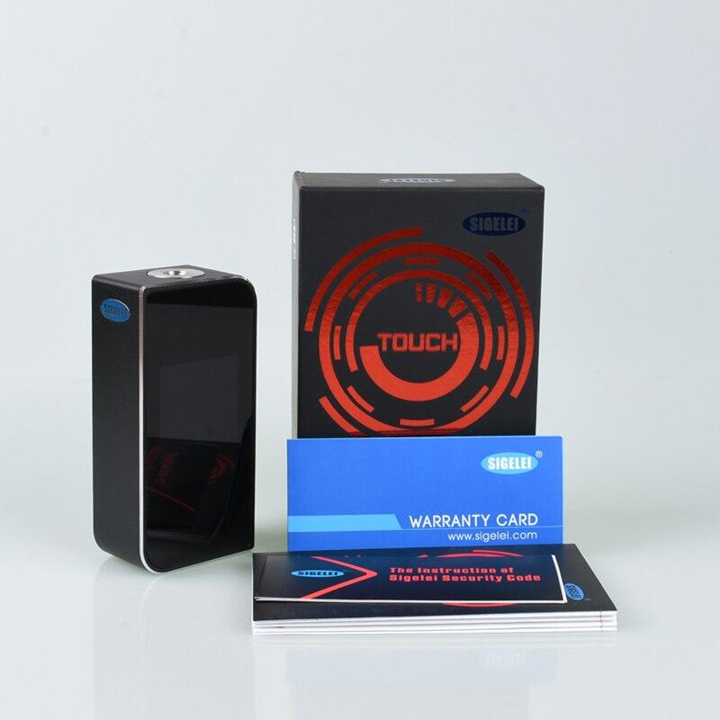 Original Sigelei T150 TC boîte MOD e cigarette 150 W boîte mod Vape mode écran tactile contrôle Support double 18650 batterie boîte mod - 6
