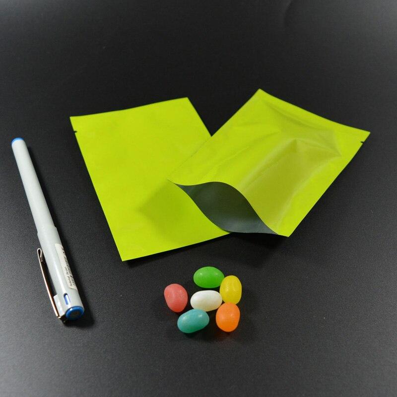 """100 шт 9x13 см(3,"""" x 5,1""""), красочная термопечать, предотвращающая появление запаха мешки из фольги мешки для хранения продуктов - Цвет: Green"""