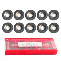 10pcs New Round Carbide Inserts 5 8 Inch Diameter 16mm 30 Degree For Woodworking Cutter