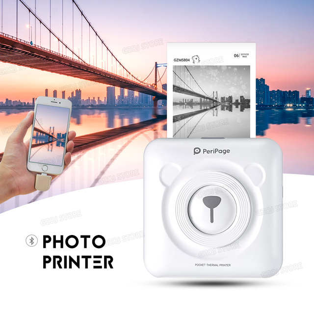 Mini POS portátil impresora de bolsillo móvil térmico Bluetooth 58mm Mini impresora térmica POS inalámbrica para teléfono Android iOS
