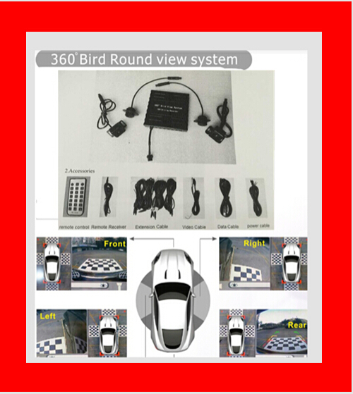 Round View Dvr System Around Parking Car Security