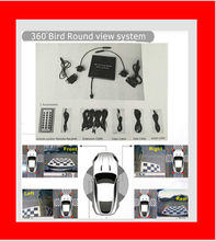 Round View DVR System Around Parking Car Security Recording 360 Degree Bird View Panorama System Front Left Right Rear Cameras