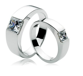 Romantic 1.5Ct Couple Wedding Rings Him & Her Promise Ring 925 Sterling Silver Engagement Bridal Rings Jewellery