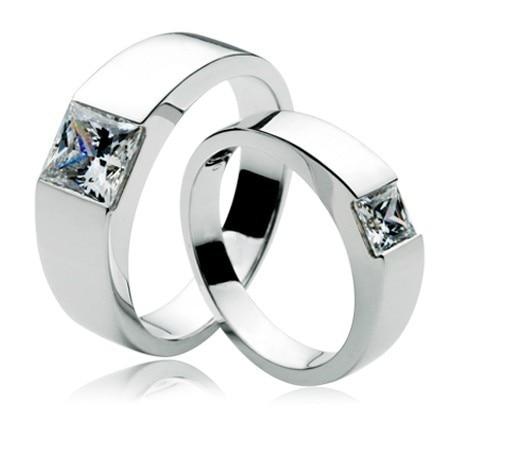 Romantische 1.5Ct Paar Trauringe Sie & Ihn Promise Ring 925 Sterling Silber Engagement Bridal Ringe Schmuck-in Ringe aus Schmuck und Accessoires bei  Gruppe 1