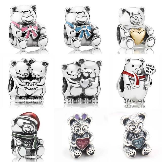 e07b171fa Christmas Polar Bear Best Friend Baby Boy & Girl Teddy Bear Charms Fit  Pandora Bracelet 925 Sterling Silver Bead Charm Jewelry-in Beads from  Jewelry ...