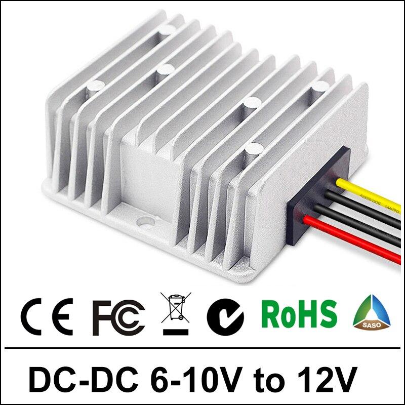 6V 7V 8V 9V to 10V 1A/10A 120W DC DC Boost Converter Step-down Waterproof Control Car Module Power Supply 6Volt 10Volt to 10Amp