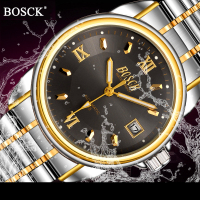 New BOSCK Men S Mechanical Watch Automatic Self Wind Watch With Calendar Luxury Brand Watches Waterproof