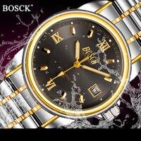 New BOSCK Men S Mechanical Watch Automatic Self Wind Watch With Calendar Luxury Brand Watches Waterproof