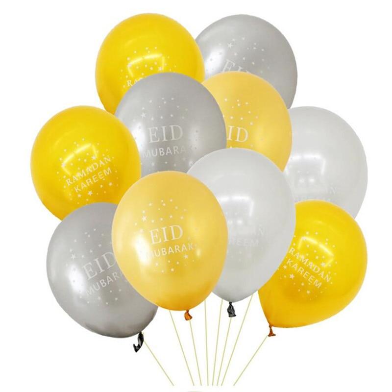 Happy Eid Mubarak Ramadan Kareem Letter Foil Balloon Banner Party Decor Islamic Balloons Greeting Cards Party Supply