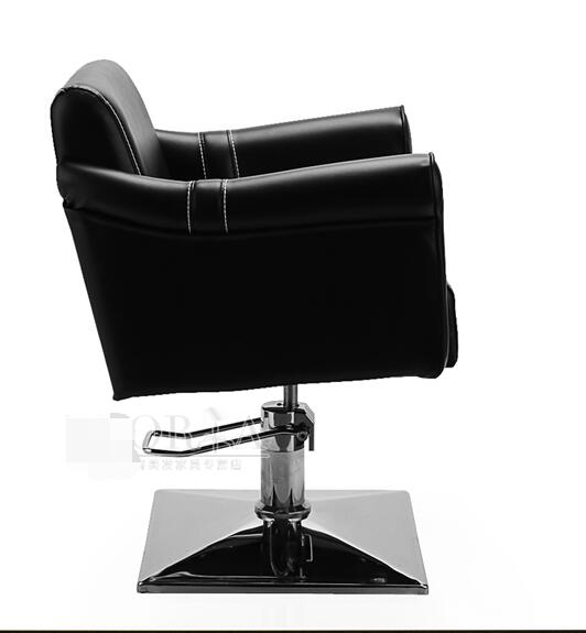 Simple hair salon hair salon hair salon hair chair shake - up red barber chair rose gold chassis.1