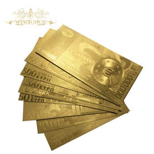Wishonor 9pcs/lot Euro Banknotes 5 10 20 50 100 200 500 1000 1 Million Gold Banknote in Plated Money For Gifts