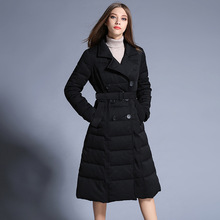 winter Europe and the United States Female Extended section Thickening   Down jacket