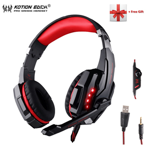 Image 5 - KOTION EACH G2000 G9000 Gaming Headphones Gamer Earphone Stereo Deep Bass Wired Headset with Mic LED Light for PC PS4 X BOX