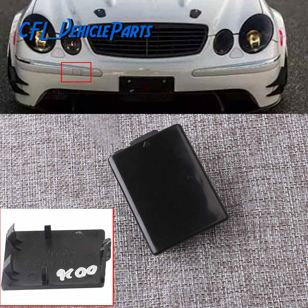 Front Bumper Tow Eye Hook Cover Cap Lid Unpainted 2118850026 For Mercedes-Benz W211 2003 2004 2005 2006 E320 E350 <font><b>E55</b></font> image