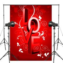 Kelime AŞK Arka Plan Kırmızı Fotoğraf Arka Plan Stüdyo Sahne Duvar Yatak Odası fotoğraf arka fonu 5x7ft