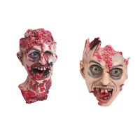 Brand New Horror Head Mask Rotten Zombie Skull Joke Prank Toy Latex Scary Halloween Props