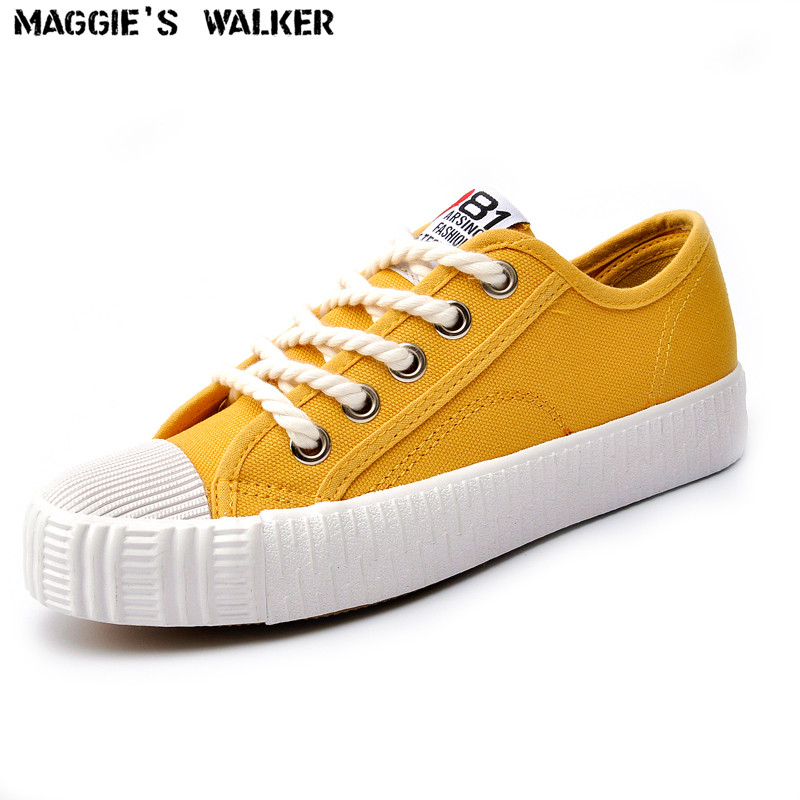 Maggie's Walker  Casual Shoes Breathable Women Fashion canvas shoes New Arrivals Lace-up Casual Spring Shoes Size 35~39 free shipping candy color women garden shoes breathable women beach shoes hsa21