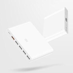 Image 5 - Xiaomi USB C cargador tipo C Original de 60W, 6 puertos USB, carga rápida QC 3,0, 18W, x2 + 24W(5V = 2.4A MAX) para teléfono inteligente y tableta