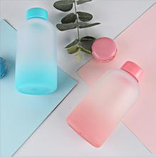 Creative fashion gradient color plastic Leakproof water bottle cute male and female student couples hand cups