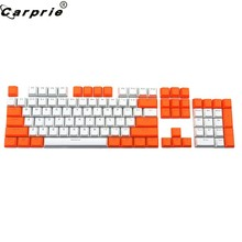 CARPRIE naranja + blanco ranslucent doble disparo PBT 104 teclados KeyCaps retroiluminados para cereza teclado MX Switch 90702(China)