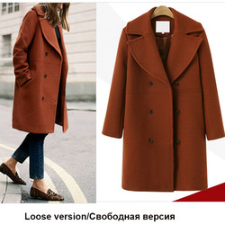Plus size Fashion Maternity Coats Casual Jackets for Pregnant Women Autumn Winter Elegant Wool Double Breasted Pregnant Coat