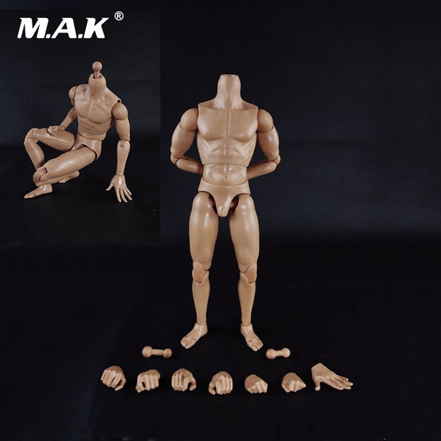 """1:6 Scale Muscle Male Body Figure Nude Soldier Model Toys for 12"""" Action Figure"""