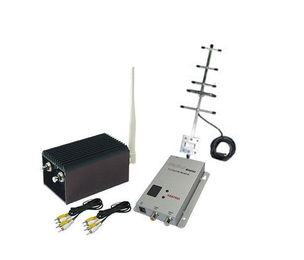 높은 Gian Yagi Antenna를 갖춘 20KM LOS Drones 비디오 오디오 송신기 UAV 전송을위한 2000mW 1.2Ghz 무선 발신기