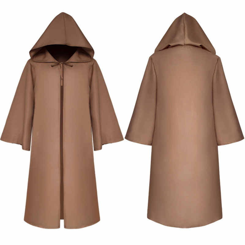 044282f2af ... Halloween Comic Con Party Cosplay Costume Monk Hooded Robes Cloak Cape  Friar Medieval Renaissance Priest Men ...