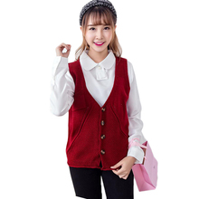 Spring Casual Cashmere Knit Cardigan Single-breasted Vest Women's Knitted Sweater Wasitcoat Sleeveless Top Quality JL937