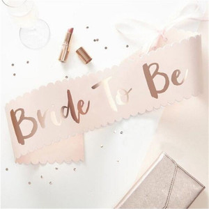 Image 5 - Team Bride to be Rose Gold Sash Hen Bachelorette Party Decorations Wedding Bridal Shoulder Marriage Bride to Be Party Supplies