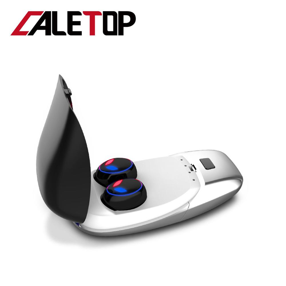 CALETOP E8 TWS Wireless Bluetooth 5.0 Earphones HIFI 6D Stereo Noise Isolation In-ear Sport Headset Charging Box PK X12