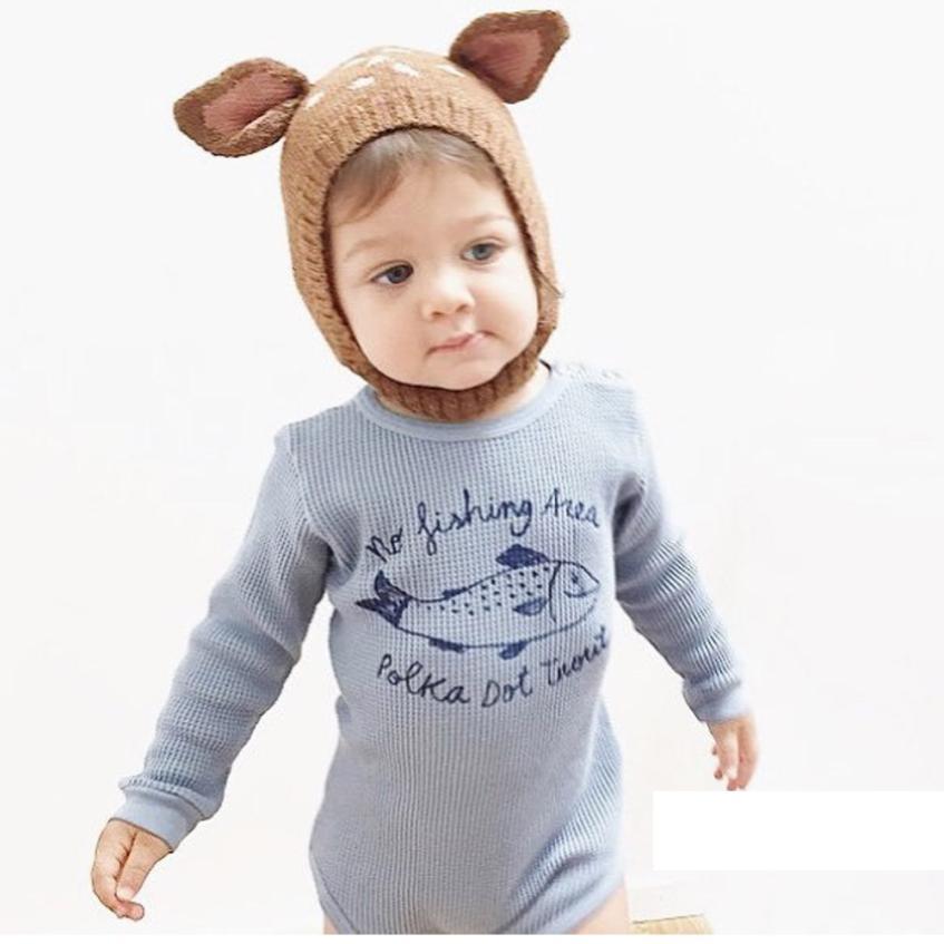 Venta caliente del bebé sombreros con orejas bebé recién nacido Niño ...