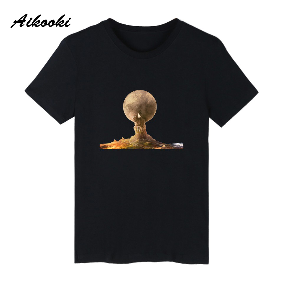 Aikooki Strategy game civilization 6 Short Sleeve T Shirts Men Women Fashion Tees Summer Cotton Casual Hip Hop Male Female Tee