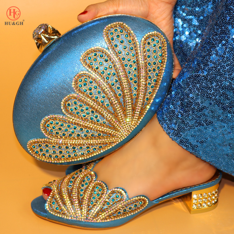 Newest Elegant Ladies Shoes And Bag Sets For Party Wedding Sky Blue Italian Matching Shoe And Bag Set Shoes And Matching Handbag 2018 new blue african ladies shoes and bag sets wedding shoes and bag low heels matching italian women shoes and bag set party